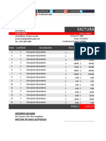 Plantilla Factura Premium