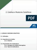 02. Catalise e Reatores Cataliticos