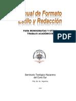 Manual de Formato y Estilo