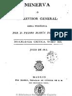 Minerva o El Revisor General. 1-7-31!10!1818