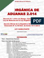 LEY ORGANICA DE ADUANA