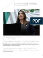 22/Abril/2019 Piden seguir ayudando a personas con Vih-Sida - ContraRéplica