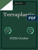 Plastic from potato starch