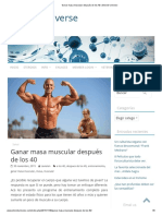 Ganar Masa Muscular Después de Los 40