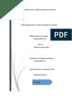 Mapa Conceptual Sobre El Origen de La Ingeniería Electrónica Unidad 2