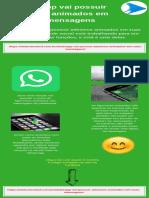 WhatsApp vai possuir adesivos animados em suas mensagens