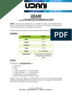Reglamento Udani. Version 2019 - 02