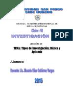 Leccion 05 Tipos de Investigacion Basica y Aplicada