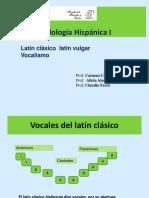Vocalismo Del Latín Vulgar