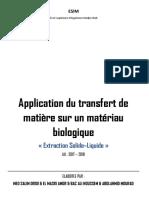 Transfert de Matiere - Extraction Liq-liq