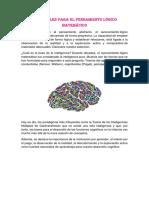 Materiales Para El Pensamiento Lógico Matemático