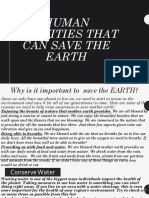 Human Activities that can save the EARTH.pptx