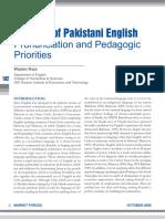 Patterns of Pakistani English Pronunciat