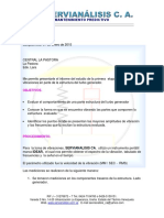 Ae001 Informe Parte Estructura Turbo Generador Nuevo Diciembre de 2014