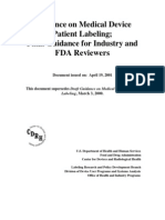FDA Medical Device Labeling