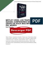 Libro Motley Crue Los Trapos Sucios Confesiones Del Grupo de Rock Mas Infame Del Mundo Neil Strauss PDF Gratis OTc4ODQ5MzY4NjQwNi8xMjUxNjM5