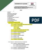1.- Contenido Preliminar de Dossier de Calidad