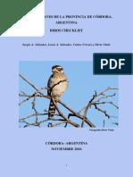Listado de aves de cordoba