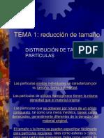 Tema 1- Distribucion de Tamaño Particulas