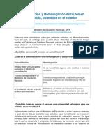 Convalidacion y Homologacion de titulos en Colombia.pdf