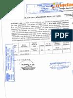 DECLARACIÓN MEDIO DE PAGO MODELO