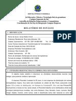 Relatório de Estágio Obrigatório -Técnico em Plásticos