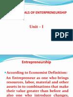 BBA III Semester Fundamentals of Entrepreneurship I Unit -Ppt