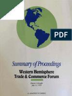 Summary of Proceedings - Western Hemisphere Trade & Commerce Forum (1995)