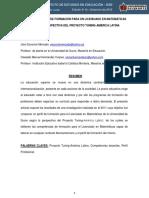 Diseno Del Perfil de Formacion Para Un Licenciado en Matemáticas Desde La Perspectiva Del Proyecto Tuning America Latina
