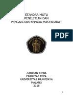 Standar Mutu Penelitian Dan Pengmas Jkub 2015