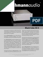 De Info Black Cube SE II 2011 Screen