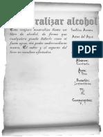 Neutralizar Alcohol BN