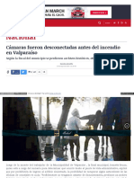 2015-05-23 Camaras Fueron Desconectadas Antes Del Incendio en Valparaiso