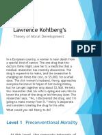 Kohlberg's Moral Devt