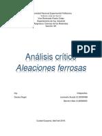 Analisis-Aleaciones ferrosas