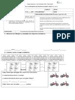 evaluación de multiplicaciones y divisiones 2° s 2015