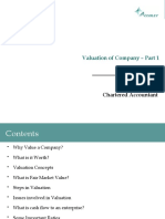Valuation of Company
