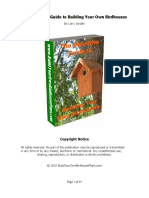 Definitive Guide to Building Your Own Birdhouses 2013