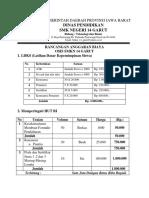 Rancangan Anggaran Biaya Osis 19-20