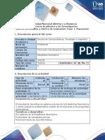 Guía de Actividades y Rúbrica de Evaluación - Paso 1