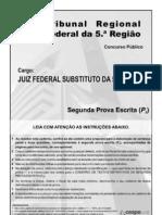 TRF5 - X - Prova Escrita