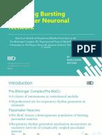 Modelling Bursting Pacemaker Neural Network