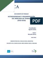 2019 Observatorio Documento Trabajo Heterogeneidad Fragmentacion