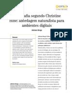 BRAGA, Adriana _ Etnografia Segundo Christine Hine - abordagem naturalista para ambientes digitais (entrevista).pdf