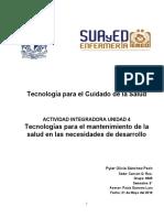 Tecnologías Para El Mantenimiento de La Salud Unidad 4