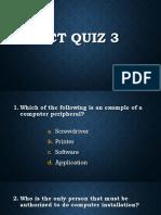 ICT Quiz 3
