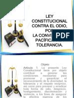 Presentacion Ley Contra El Odio