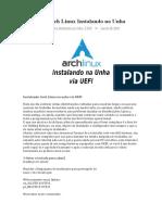 Tutorial - Arch Linux Instalando na Unha.docx