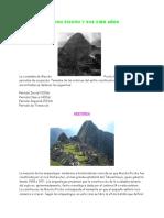 Cien Años de Macchu Picchu