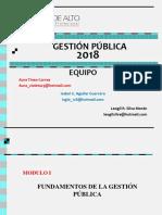 Diplomado Gestión Pública 2018- 1 Semana